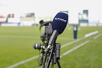 illustration picture of the preparations by Eleven Sports for the live covering pictured before  a female soccer game between Eendracht Aalst and Sporting Charleroi on the fifth matchday of the 2021 - 2022 season of Belgian Scooore Womens Super League , Saturday 2 October 2021  in Aalst , Belgium . PHOTO SPORTPIX    KRISTOF DE MOOR
