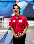 Boys singles Final round during Day 2 of the World Youth Tenpin Bowling Championships on August 09, 2014 at the SCAA bowling centre in Hong Kong, China.  Photo by Aitor Alcalde / Power Sport Images