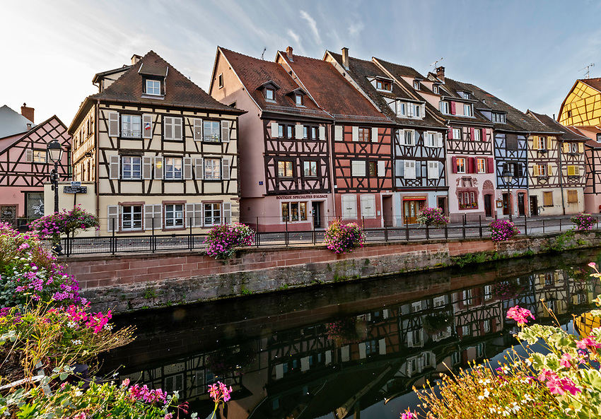 Morning on the Quai de la Poissonnerie, in Colmar, Alsace