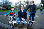 Enjoying a stroll in the Tralee town park on Sunday, l to r: Gearoid, Paul and Caoimhe Daly