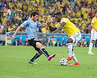 Rio de Janeiro, Brazil - Saturday, June 28, 2014: Colombia defeated Uruguay 2-0 to open round of 16 play at Maracana Stadium.