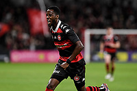 1st May 2021; Bankwest Stadium, Parramatta, New South Wales, Australia; A League Football, Western Sydney Wanderers versus Sydney FC; Bruce Kamau of Western Sydney Wanderers celebrates after  scoring in the 12th minute to make it 1-0