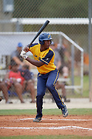Jahlani Rogers (27) during the WWBA World Championship at the Roger Dean Complex on October 12, 2019 in Jupiter, Florida.  Jahlani Rogers attends East Ridge High School in Clermont, FL and is committed to Florida Gulf Coast.  (Mike Janes/Four Seam Images)