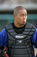 April 17, 2010: Ikko Sumi of the Rancho Cucamonga Quakes before game against the Lancaster JetHawks at Clear Channel Stadium in Lancaster,CA.  Photo by Larry Goren/Four Seam Images