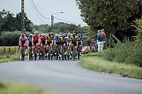 Peloton at ease<br /> <br /> 103th Kampioenschap van Vlaanderen 2018 (UCI 1.1)<br /> Koolskamp – Koolskamp (186km)