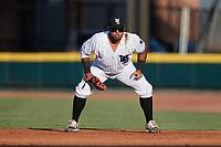 Winston-Salem Dash first baseman Harvin Mendoza (17) on defense against the Hudson Valley Renegades at Truist Stadium on August 28, 2021 in Winston-Salem, North Carolina. (Brian Westerholt/Four Seam Images)