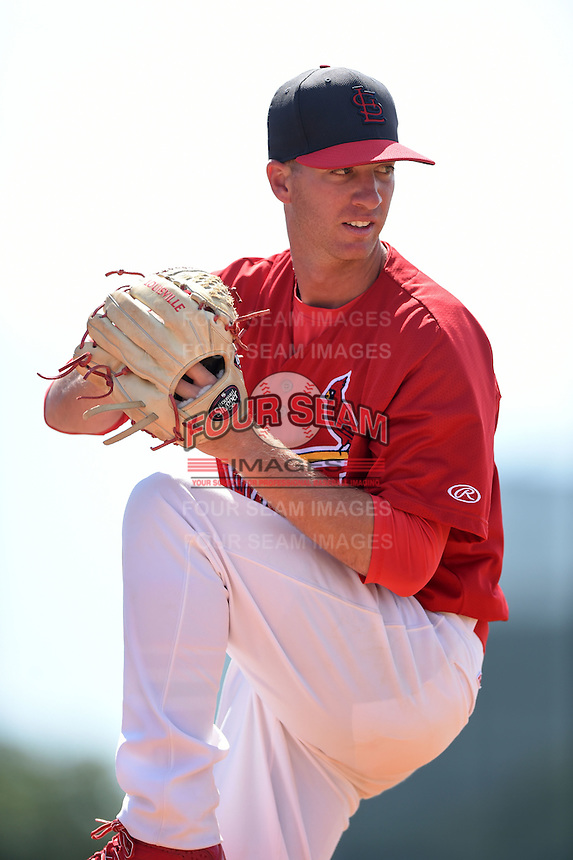 St. Louis Cardinals pitcher Kevin Alexander (40) in the bullpen during a minor league spring training game against the New York Mets on April 1, 2015 at the Roger Dean Complex in Jupiter, Florida.  (Mike Janes/Four Seam Images)