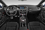 Stock photo of straight dashboard view of a 2015 Audi S5 4.2 quattro Tiptronic Premium Plus Coupe 2 Door Coupe Dashboard