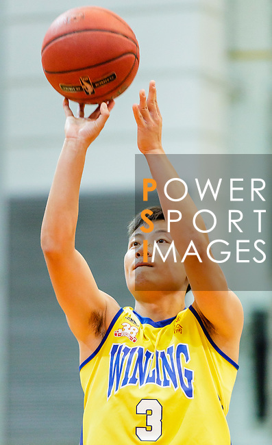Liang Man Hung #3 of Winling Basketball Club concentrates prior to a free throw during the Hong Kong Basketball League game between Winling and Fukien at Southorn Stadium on May 29, 2018 in Hong Kong. Photo by Yu Chun Christopher Wong / Power Sport Images