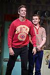 """Ward Horton and Jack DiFalco during the Broadway Opening Night Curtain Call for """"Torch Song"""" at the Hayes Theater on November 1, 2018 in New York City."""