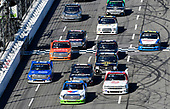 #54: David Gilliland, DGR-Crosley, Toyota Tundra Fred's and #22: Darrell Wallace, Jr, AM Racing, Chevrolet Silverado GO TEXAN / AM Technical Solutions