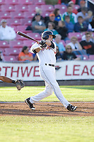 July 7, 2009: Salem-Keizer Volcanoes' Ryan Lollis at-bat during a Northwest League game against the Tri-City Dust Devils at Volcanoes Stadium in Salem, Oregon.