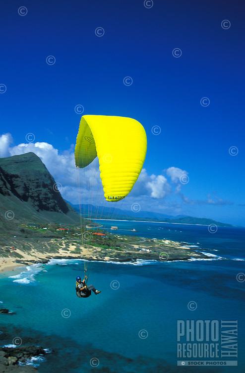 Paragliding off Makapuu point, Oahu