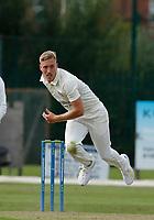 21st September 2021; Aigburth, Merseyside, England; County Championship Cricket, Lancashire versus Hampshire, Day 1; Luke Wood of Lancashire bowling