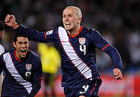 Michael Bradley of USA celebrates his goal, 2-2. USA vs Slovenia in the 2010 FIFA World Cup at Ellis Park in Johannesburg, South Africa on June 18th, 2010.