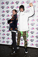 Tom Meighan and Sergio Pizzorno<br /> arriving for the NME Awards 2018 at the Brixton Academy, London<br /> <br /> <br /> ©Ash Knotek  D3376  14/02/2018