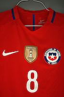 Photo before the match Chile vs Panama, Corresponding to Group -D- America Cup Centenary 2016 at Lincoln Financial Field.<br /> <br /> Foto previo al partido Chile vs Panama, Correspondiente al Grupo -D- de la Copa America Centenario 2016 en el  Lincoln Financial Field, en la foto: Vestidores de Chile con Uniforme de Arturo Vidal<br /> <br /> <br /> 14/06/2016/MEXSPORT/Osvaldo Aguilar.