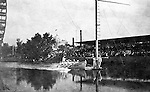 St Louis MO:  View of the US Life Saving Station crew performing a rescue operation at the Louisiana Purchase Exposition.