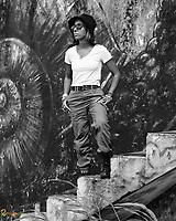 Aidelisa en Aibonito #aidelisa #watertank #dareportraits #blackandwhite