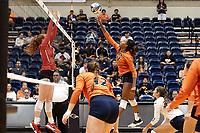 SAN ANTONIO, TX - SEPTEMBER 6, 2019: The University of Houston Cougars defeat the University of Texas at San Antonio Roadrunners 3-1 (19-25, 25-19, 25-21, 25-21) at the UTSA Convocation Center. (Photo by Jeff Huehn)