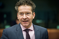 Eurogroup President Dutch Finance Minister Jeroen Dijsselbloem  at the start of a Eurogroup with European Finance Ministers meeting at EU council headquarters in Brussels, Belgium on 26.01.2015 The Eurogroup's meeting focus on Greece, after  leftist anti-bailout party SYRIZA won parliamentary elections by Wiktor Dabkowski