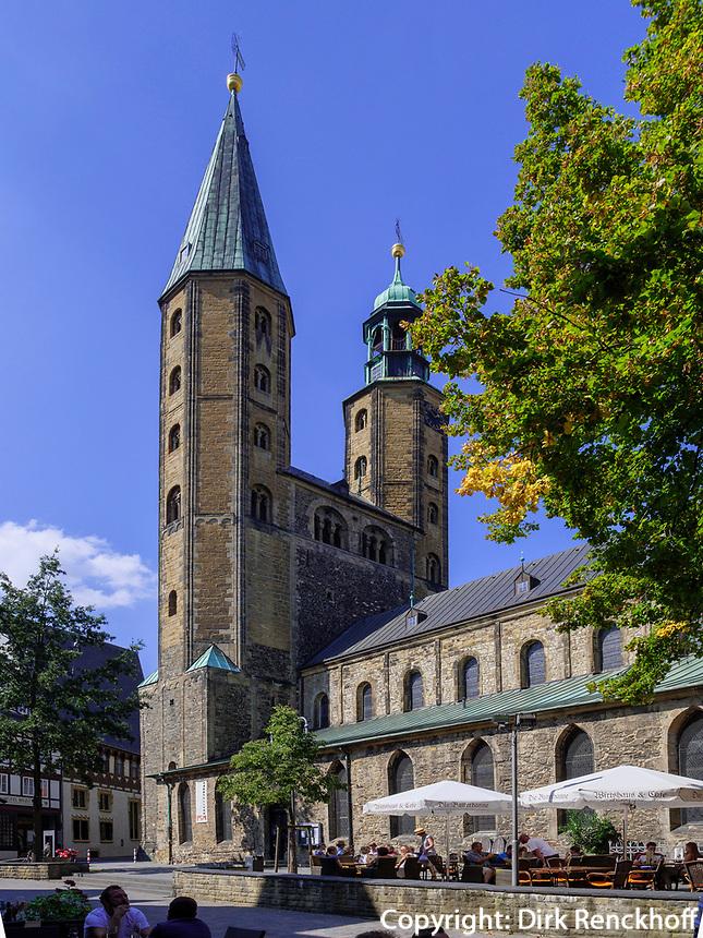 Marktkirche St. Cosmas und Damian, Goslar, Niedersachsen, Deutschland, Europa, UNESCO-Weltkulturerbe<br /> Market Church Cosmas and Damian, Goslar, Lower Saxony,, Germany, Europe, UNESCO Heritage Site