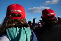 Avoca,PA USA - November 02: People attend rally for candidate Donald Trump on the last day of campaigning November 02, 20120 in Avoca, Pennsylvania, USA. President Donald Trump made a campaign appearance in this crucial swing state on the day before Election Day. During his speech President Trump strongly suggested again that there would likely be elelctoral fraud  in the city of Philadelphia.  (Photo by Stephen Ferry/VIEWpress)