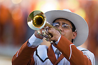 30 September 2006: A trumpeter in the Longhorn Band plays on the field before the Longhorns 56-3 victory over the Sam Houston State Bearkats at Darrell K Royal Memorial Stadium in Austin, TX.