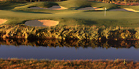 Golfing overview of the 8th hole of the Cross Water Golf Course. Sunriver, Oregon.
