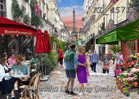 Interlitho-Franco LANDSCAPES, LANDSCHAFTEN, PAISAJES,paintings,KL_4568,#l#, EVERYDAY,Paris,Arc de Triomphe,puzzle,puzzles,puzzle,puzzles