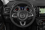 Car pictures of steering wheel view of a 2018 Jeep Compass Limited 4WD 5 Door SUV