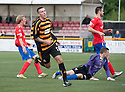 Alloa's Eddie Ferns celebrates after he scores their third goal.