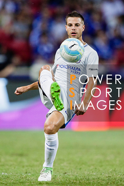 Chelsea Defender Cesar Azpilicueta in action during the International Champions Cup 2017 match between FC Internazionale and Chelsea FC on July 29, 2017 in Singapore. Photo by Marcio Rodrigo Machado / Power Sport Images