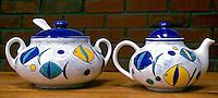 Jarras de cerâmica, artesanato equatoriano. Foto de Manuel Lourenço.