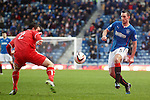 Lee Wallace chips the ball into the box