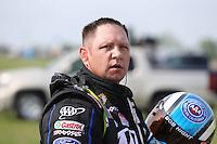 Apr. 26, 2013; Baytown, TX, USA: NHRA funny car driver Robert Hight during qualifying for the Spring Nationals at Royal Purple Raceway. Mandatory Credit: Mark J. Rebilas-
