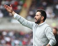25th September 2021; Swansea.com Stadium, Swansea, Wales; EFL Championship football, Swansea versus Huddersfield; Carlos Corberan, Manager of Huddersfield Town