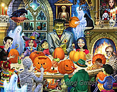 Randy, CUTE ANIMALS, LUSTIGE TIERE, ANIMALITOS DIVERTIDOS, halloween, paintings+++++,USRW351,#ac#, EVERYDAY ,pumpkins, ,ghost,ghosts
