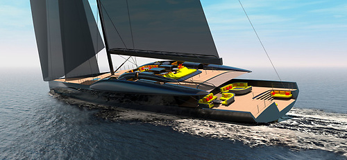 While the new Kinsale-conceived 206ft sloop will provide extensive comfort, top sailing performance is a priority