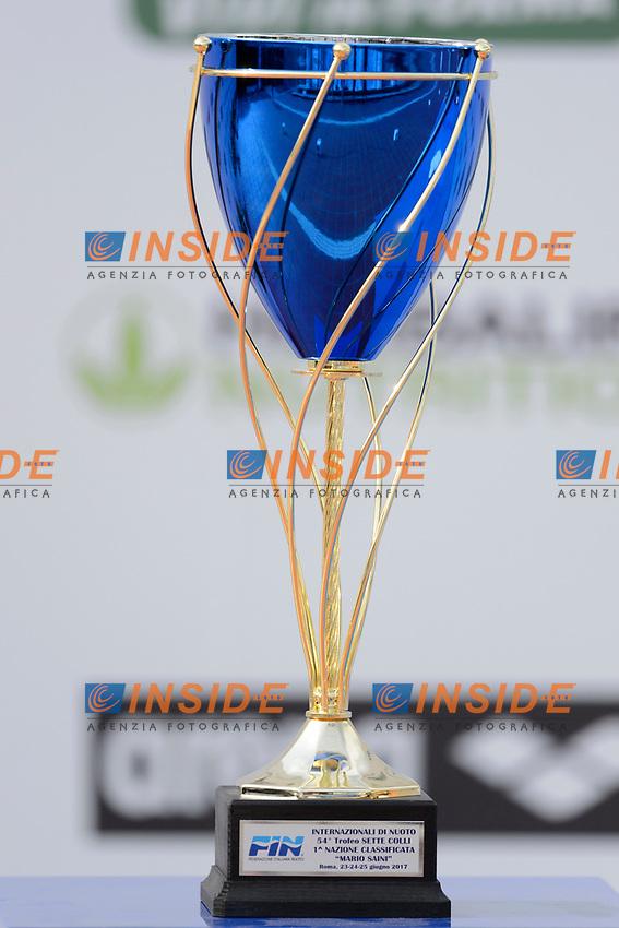 Il trofeo Mario Saini <br /> Roma 25-06-2017 Stadio del Nuoto Foro Italico <br /> FIN 54mo Trofeo Sette Colli 2017 Internazionali d'Italia<br /> Photo Andrea Staccioli/Deepbluemedia/Insidefoto
