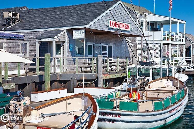 View of the waterfront from Straight Wharf, Nantucket, MA, USA