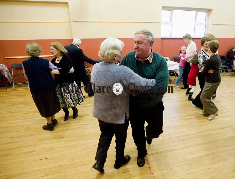 Stepping it out at the Feakle Parish Afternoon Tea Social in the local Hall. Photograph by John Kelly.