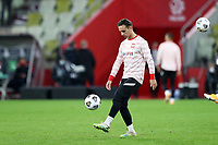 11th October 2020, The Stadion Energa Gdansk, Gdansk, Poland; UEFA Nations League football, Poland versus Italy; MICHAL KARBOWNIK warms up pre-game
