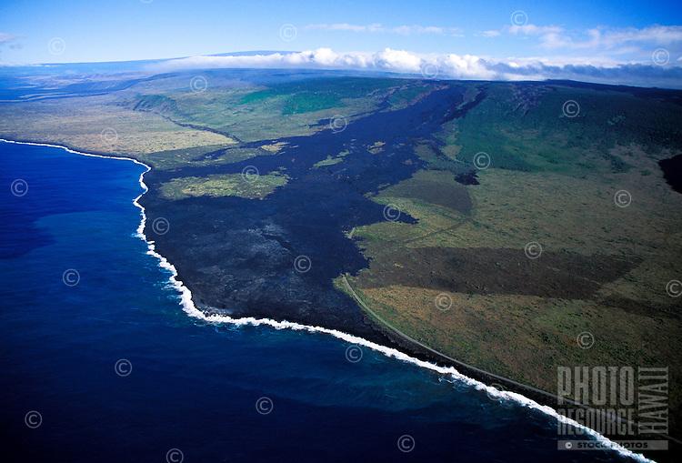 Lava flow to Puna, Hawaii Volcanoes National Park, Big island of Hawaii