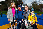Enjoying the afternoon in the playground in the Tralee town park on Thursday. L to r: Lorraine Pearl, Charlotte, Bobby and William Morgan