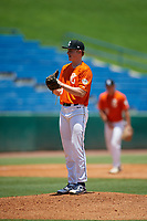 Drew Blake (23) of Stillwater High School in Stillwater, OK during the Perfect Game National Showcase at Hoover Metropolitan Stadium on June 19, 2020 in Hoover, Alabama. (Mike Janes/Four Seam Images)