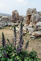 megalithischer Ta'Hagrat-Tempel 3.600-2.5ßß v.Chr., Malta, Europa, Unesco-Weltkulturerbe
