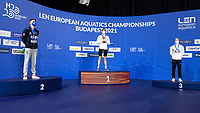 Gold Medal<br /> KOLESNIKOVKliment RUS<br /> Silver Medal<br /> MIRESSIAlessandro ITA<br /> Bronze Medal<br /> MINAKOVAndrei RUS<br /> 100m Freestyle Men<br /> Swimming<br /> Budapest  - Hungary  19/5/2021<br /> Duna Arena<br /> XXXV LEN European Aquatic Championships<br /> Photo Giorgio Scala / Deepbluemedia / Insidefoto