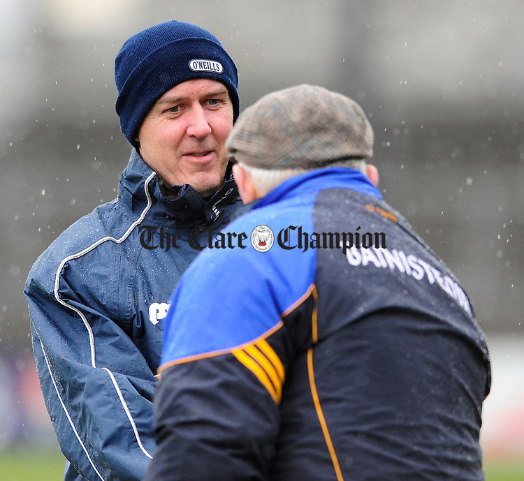 Frank Doherty Clare Football manager.Pic Arthur Ellis.  NFL Clare v Wicklow at Cusack Park.Pic Arthur Ellis.