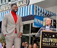 """LOS ANGELES, CA. January 30, 2020: Curtis 50 Cent Jackson & Chris Albrecht at the Hollywood Walk of Fame Star Ceremony honoring Curtis """"50 Cent"""" Jackson.<br /> Pictures: Paul Smith/Featureflash"""